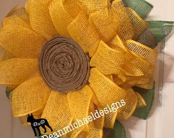 wreath for front door, winter wreath, sunflower wreath, handmade wreath, mesh wreaths, spring wreath, best door wreath, front door wreath
