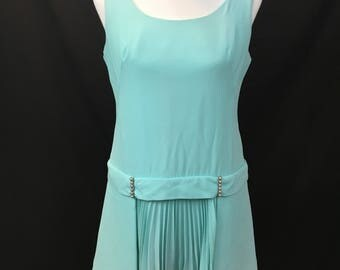 60's Robin's Egg Blue Scooter Dress