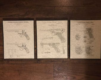 3 Pack - Firearm, Revolver, and Small Arms Patents