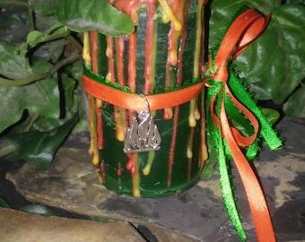 Lady of the Sacred Flame Goddess Bridgit Ritual Candle