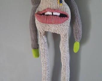 Totally Unique Handmade Sock Monster
