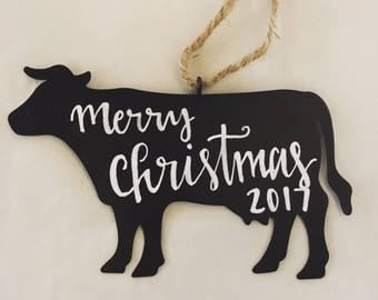 Personalized Cow Ornament