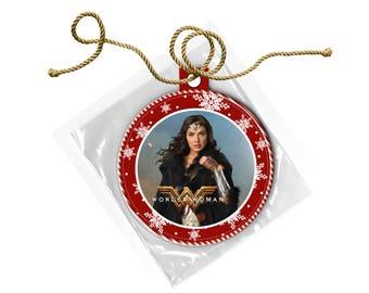 Wonder Woman Gal Gadot Christmas Ornament