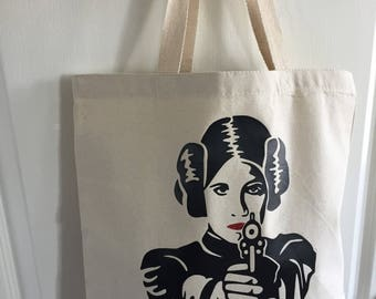 Don't mess with the princess custom tote bag