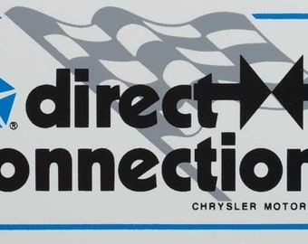 Direct Connection With Checkered Flag Sticker/Decal