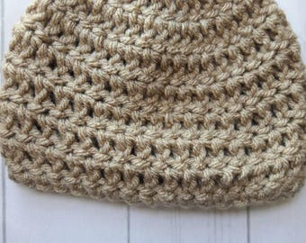 Crochet newborn hat/crochet baby hat/crochet photo prop/newborn hat/baby shower gift/crochet beige hat