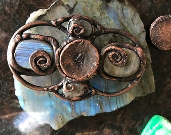 Electroformed Copper Labradorite Crystal Spinner For the Crystal Lovers Assist in Meditation