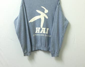 Sale!! Sale!! Vintage Hai Sporting Gear Sweatshirt Big Logo Spell Out Issey Miyake Rare design