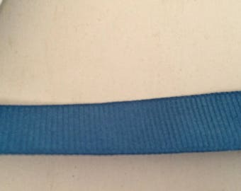 Ribbon grosgrain Blue 1.5 cm wide
