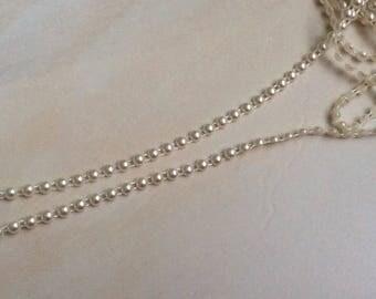 Ribbon 6 mm beige acrylic half Pearl