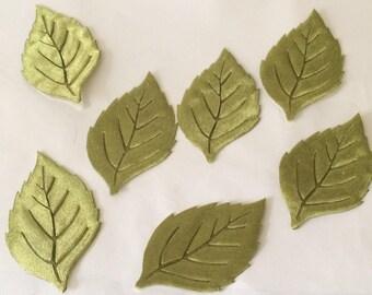 Set of 7 leaf green lazer cut