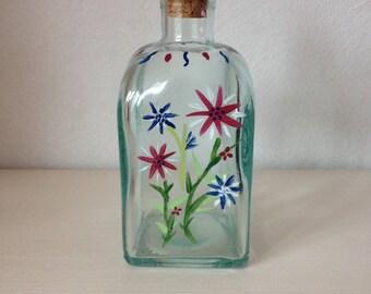 glass bottle decorative floral designs