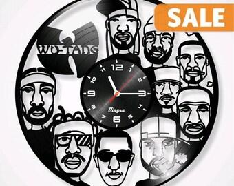 Wu-Tang Vinyl Record Clock Wu-Tang  Wall Decor Wu-Tang Art Wu-Tang Decoration Wu-Tang Decor Wall Clock Wu-Tang Gift