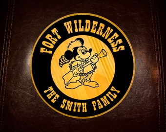 Fort Wilderness Inspired sign - with your family name