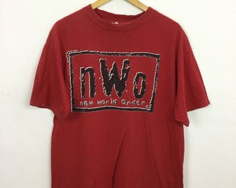 Vintage 90s NWO New World Order Rum With Pac WWF T Shirt Wrestling Size L