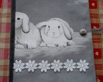 Notebook covers rabbits