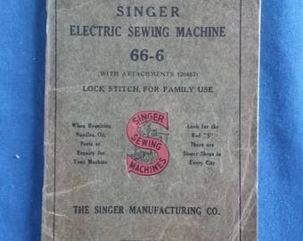Singer Sewing Machine Instruction Booklet No. 66-6