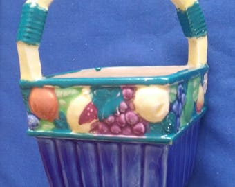 Fruit Basket Vase, Maruhon Ware