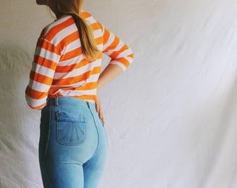 vintage marigold orange easy shirt / medium