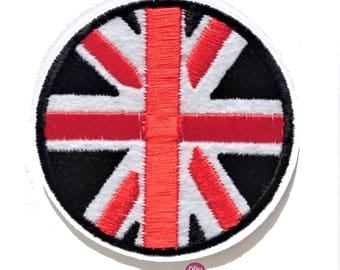 Union Jack patch Thermo 7 cm England flag embroidered badge
