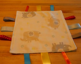 New, Handmade, Baby Tag Blanket <Free Shipping>