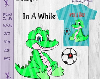 Crocodile svg, Alligator svg, boys svg, Animal svg, zoo svg, T shirt designs, svg cricut file, die cut,  soccer svg, dxf cut file, cricut