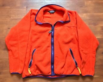 Vintage Orange/Purple lining wool fleece Unisex medium Early winters