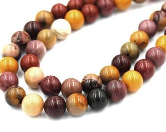 "Two 15"" strands Yolk Stone Beads 8mm"