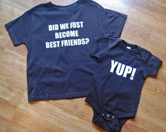 Did We Just Become Best Friends Tees, Siblings Shirts, Mommy and Me Tee, Kids Shirts, Take Home Outfit, Sibling Outfits, Baby Shower Gift