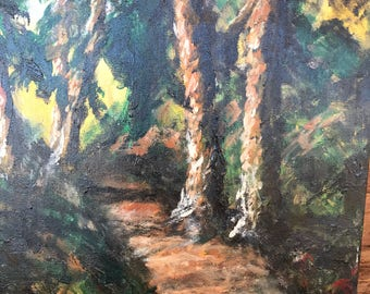 The Path original painting by C. Gaer Barlow