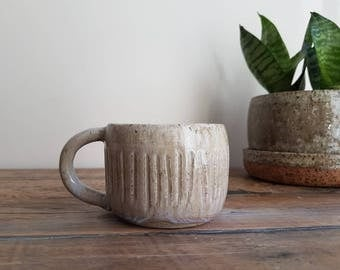 Rustic stoneware cappuccino cup