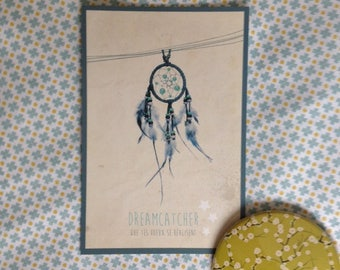 "Map postcard ""Dreamcatcher"" that your wishes come true!"