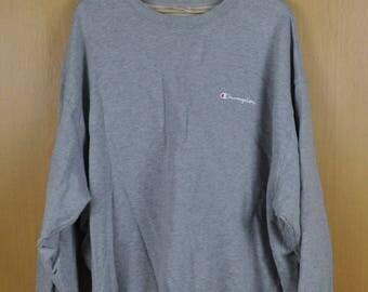 Vintage Sweater Champion Authentic American Athletic Apparel Sport Shirt Six Large Size Nice Sweatshirt
