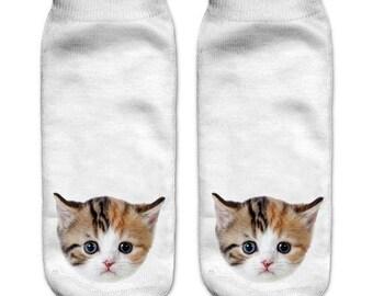 Little cat ankle socks
