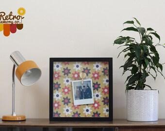 Personalised Floral/Monochrome Retro Polaroid frame