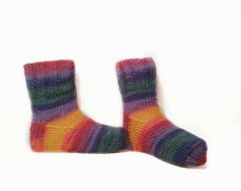 Kids wool socks, Knitted kids socks, Girls socks, Boys socks, Warmers, Child socks, Kids gift, Handmade socks, Winter socks, Colorful socks