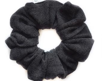 Black Knit Scrunchie
