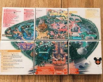 Disneyland Park Map Drink Coasters - Set of 6 (Disney)