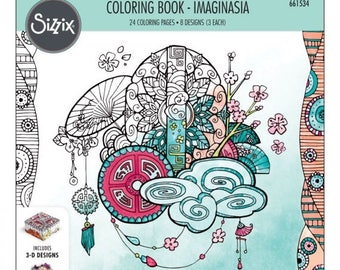 Fall Clearance: Sizzix Coloring Book - Imaginasia by Katelyn Lizardi  661534