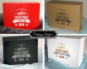 Happy Christmas Gift Boxes, Parents Christmas Boxes, Christmas Gift Box