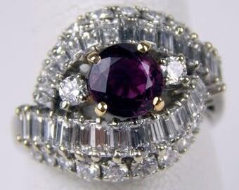 18k Gold 3.5 Ctw diamond ruby ring #10064
