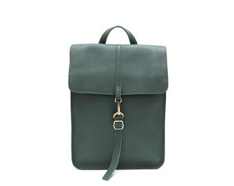 Leather Forest Backpack