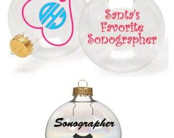 Set of 3 Sonographer Ornaments
