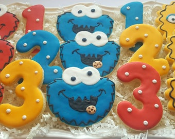 12 Sesame Street Cookies Party Favors