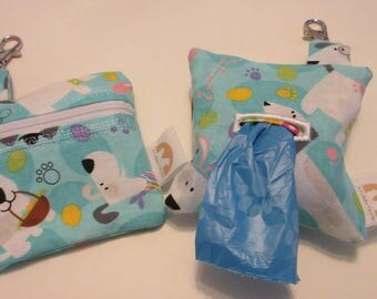 Does your BFF have to go? Easter poop pick up bag dispenser blue white  easy clip fun Eggs Baskets Dogs