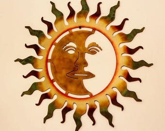 Superbe Metal Sun, Laser Cut Metal Sun, Laser Cut Wall Art, Wall Art,