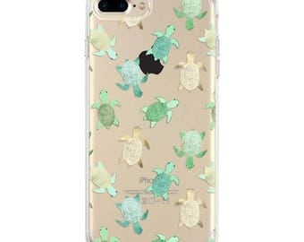 Turtles iPhone 7 case, iPhone 6s case, iPhone 6 case, top seller transparent clear iPhone case
