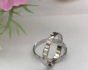 18k white gold midi rings