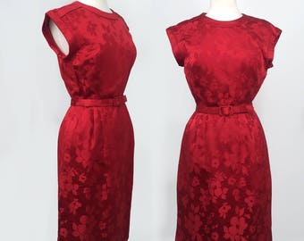 Red Floral Party Dress