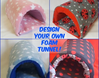 Guinea Pig Foam Tunnel-CUSTOM ORDER